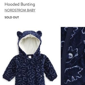 Hooded Bunting Suit Nordstrom